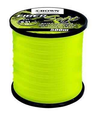 Linha Crown Fiber Soft Amarela 0,31mm -19lb 500m