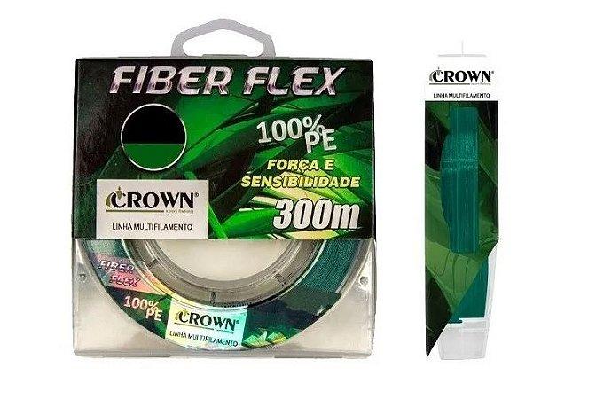 Linha Multifilamento Crown Fiber Flex 0,30mm 50lb. 300m