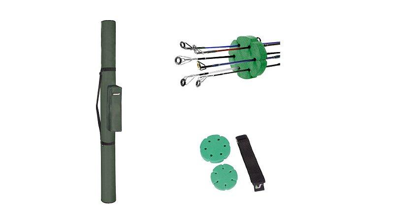 Porta Varas C/ Bolso E Organizador de Varas Jogá 1,50m Verde