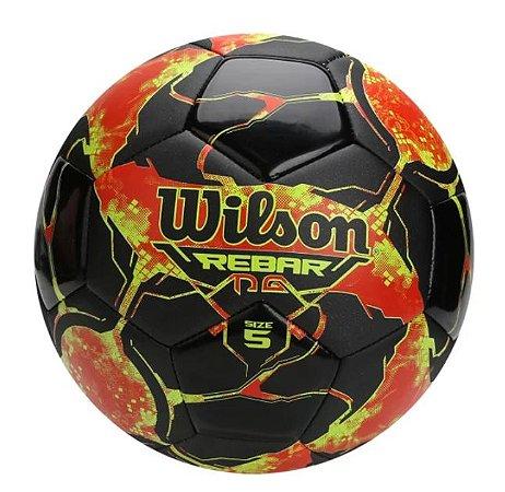 Bola Futebol Campo Wilson Rebar Ng - Preto e Vermelho