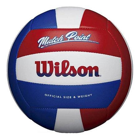 Bola De Volei Wilson Matchpoint - Branco e Vermelho