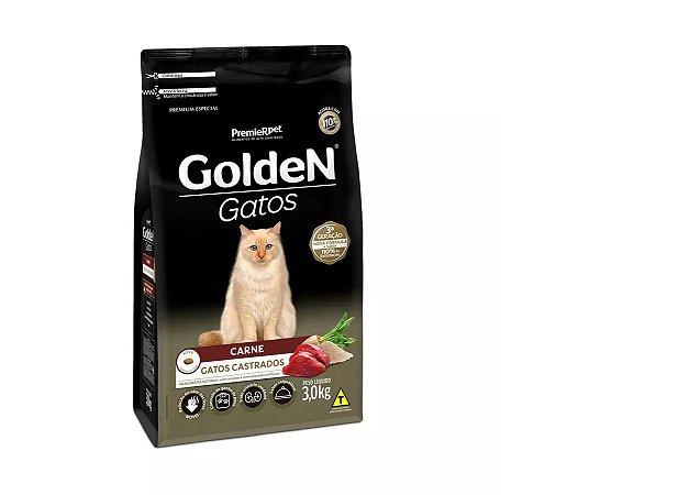 Ração Seca PremieR Pet Golden Gatos Adultos Castrados Carne