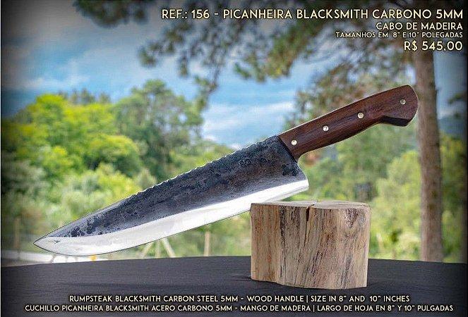 Faca SG Picanheira Blacksmith Carbono 5mm Cabo de Madeira