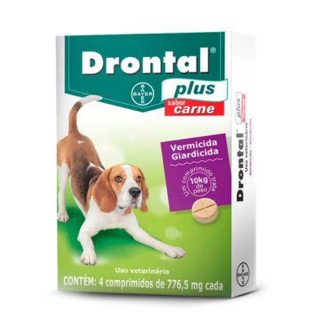 Drontal Plus 4 Comprimidos Para Cães Até 10 Kg
