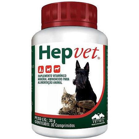 Hepvet Cães E Gatos Vetnil 30 Comprimidos