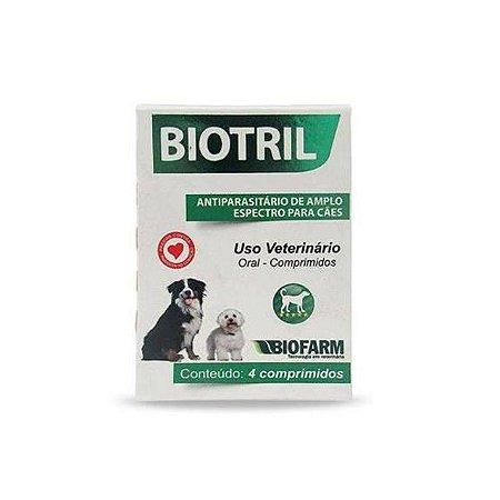 Vermífugo Biotril 4 comprimidos