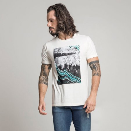 CAMISETA STONE FAMILY LAKE OFF-WHITE