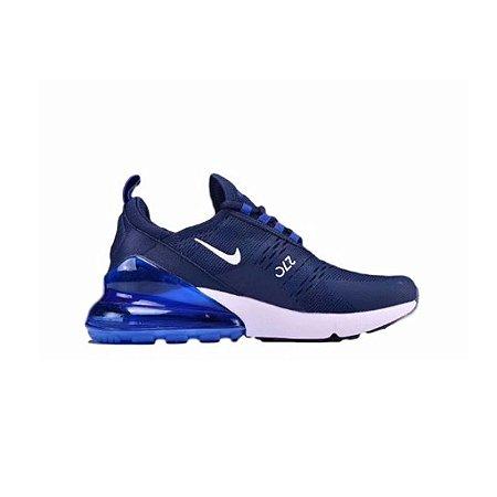 0f0f284698466 Tênis Nike Air Max 270 - Azul e Branco