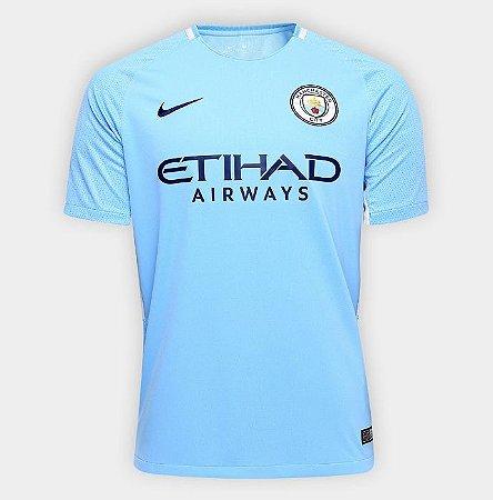 Camisa Manchester City Home 17 18 s nº Torcedor Nike Masculina - Azul Claro e44f8094b88dd