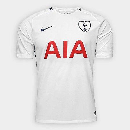 Camisa Tottenham Home 17 18 s n° - Torcedor Nike Masculina - Branco ... b39a719cab4fc
