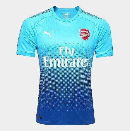 b36f94a8874ee Camisa Arsenal Away 17 18 s n° Torcedor Puma Masculina - Azul Turquesa