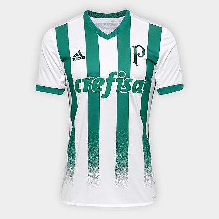 Camisa Palmeiras II 17 18 s nº Torcedor Adidas Masculina - Branco e Verde 47fcef1ddc475