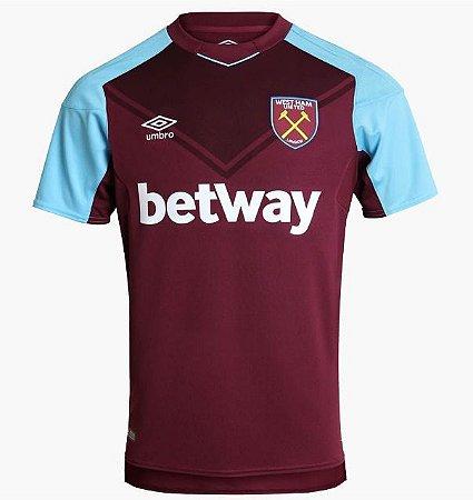90360abbb4 Camisa West Ham Oficial Umbro s n 16 17 - Jogador - vinho e azul ...