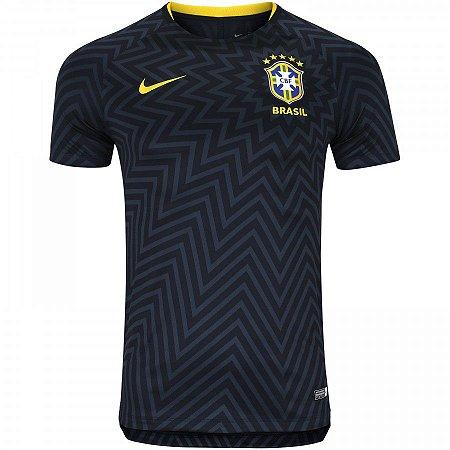 Camisa Pré Jogo Seleção Brasileira I Copa 2018 s n° - Nike Masculina ... 488c6ea4ea43d