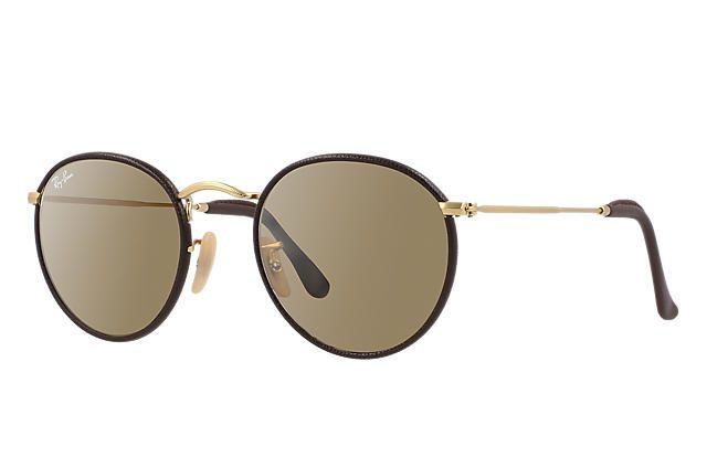RAY-BAN ROUND CRAFT MARROM OURO - LENTES MARROM CLÁSSICA - Óculos Pronto e280f10ceb
