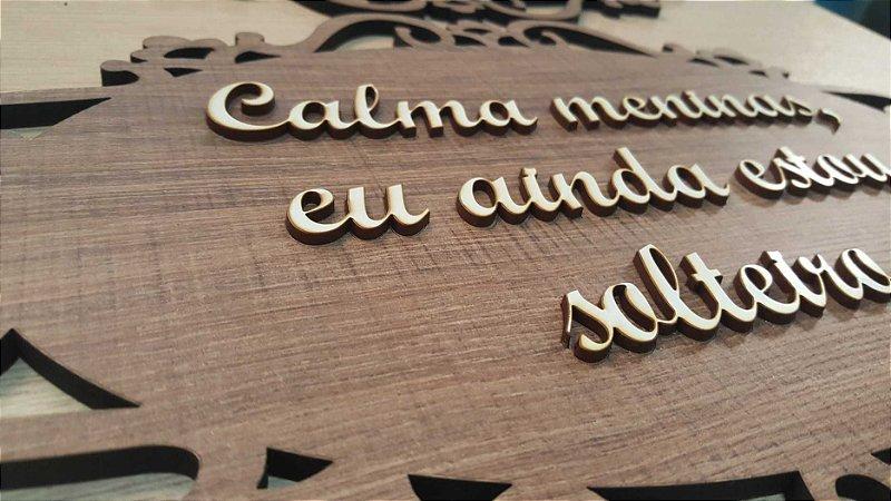 Placa Pajem e Daminha - MDF Texturizado com letras sobreposta.
