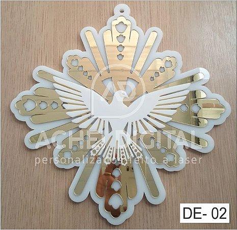 Divino Espírito Santo 30x30 -3 Relevos (Acrílico)