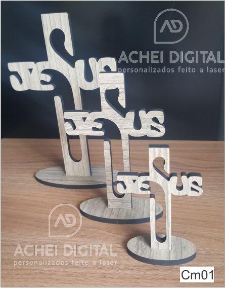 Cruz de Mesa JESUS MDF 6mm - 10cm a 20cm