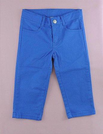 Calça Capri Azul Celeste com Cintura Ajustável Infantil Gymboree
