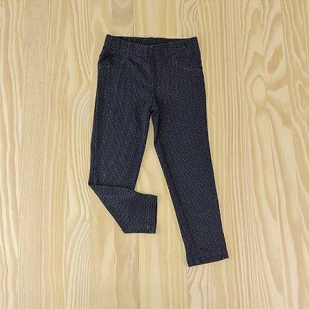 Calça Legging Azul Marinho Brilhos Infantil Carter's