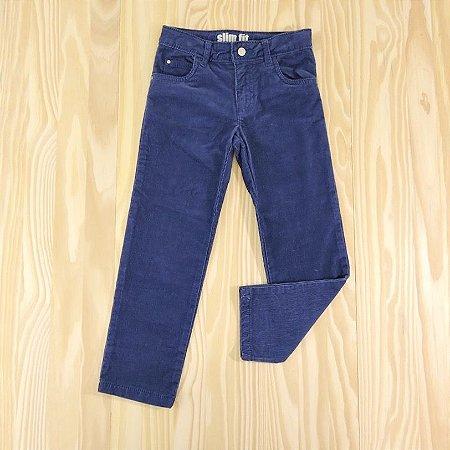 Calça Azul Marinho Slim Fit Veludo Infantil Carter's