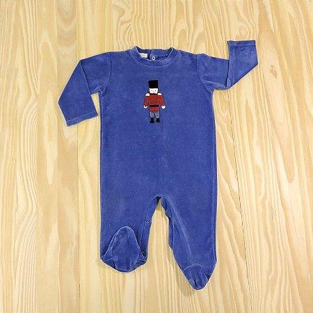 Macacão Plush Azul Royal SoldadinhoInfantil Pinni