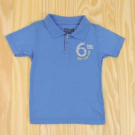 Camiseta Gola Polo Azul Infantil Trick Nick