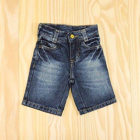 Shorts Jeans Azul Cintura Ajustável Infantil Baby Way