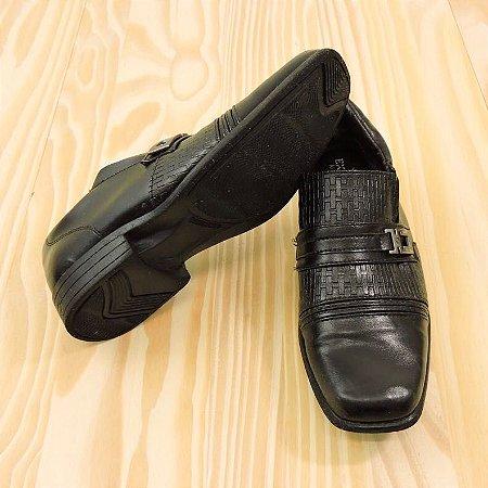 Sapato Social Preto Infantil Exatos Kids