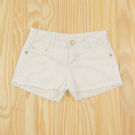 Shorts Jeans Branco Infantil d.viller