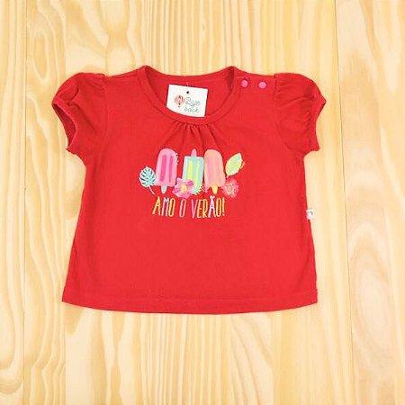 Camiseta Pink Infantil Teddy Boom
