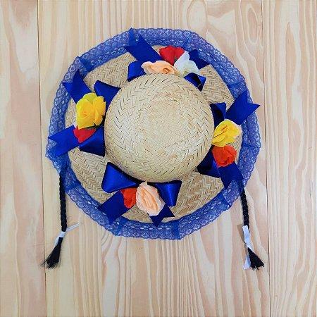 Chapéu Caipira com Tranças Flores Infantil Outlet