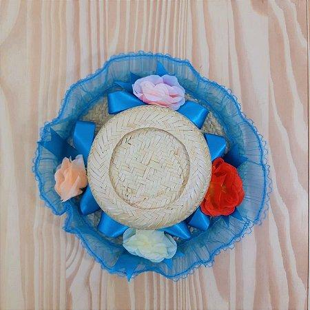 Chapéu Caipira com Tranças Flores Baby Outlet