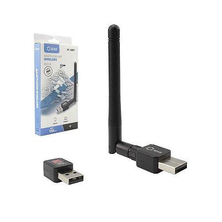 ADAPTADOR USB LT-A097 WIRELESS C/ ANTENA EXTERNA LOTUS BOX