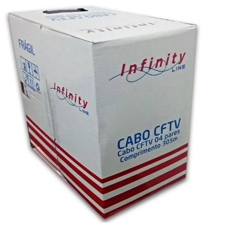 CAIXA DE CABO DE REDE 305 METROS CAT5E 100% COBRE INFINITY BOX