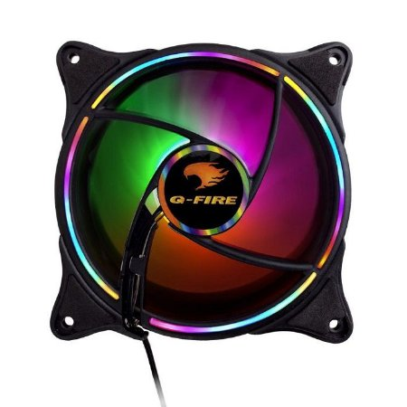 COOLER FAN PARA GABINETE EW2312R 120MM RGB G-FIRE BOX