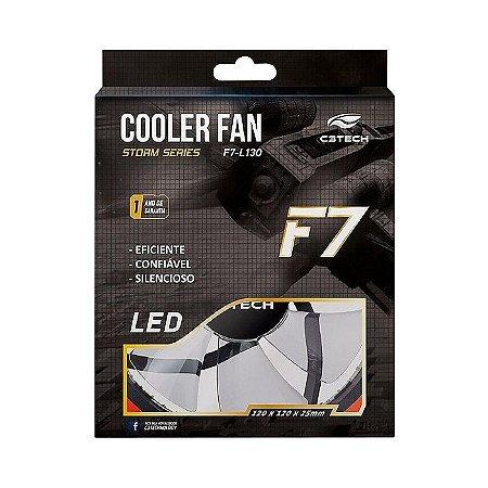 COOLER FAN PARA GABINETE F7-L130BL 120MM LED AZUL C3TECH BOX