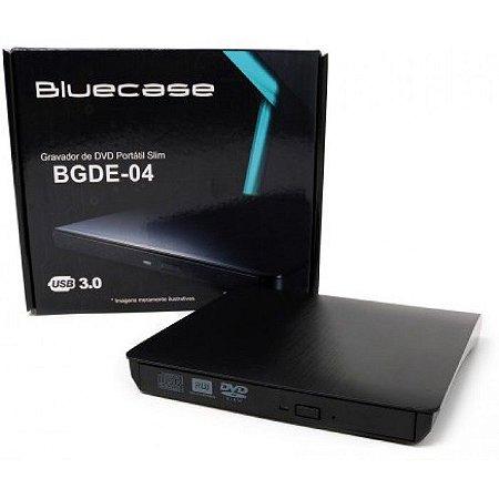 GRAVADOR CD DVD EXTERNO USB 3.0 BGDE-04 BLUECASE BOX