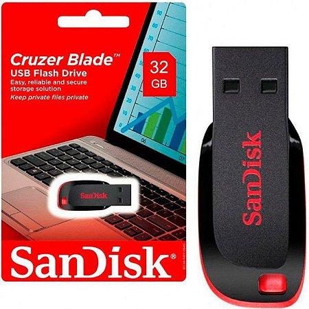 PEN DRIVE 32 GB CRUZER BLADE SDCZ50-032G-B35 USB 2.0 SANDISK BOX