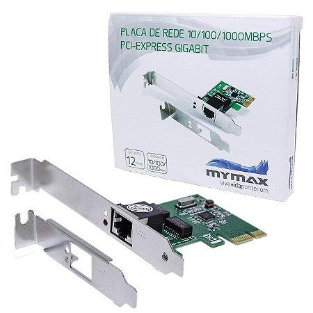 PLACA DE REDE PCI-E 10/100/1000 MGLANE-JEN MYMAX BOX