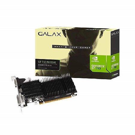 PLACA DE VIDEO 2GB GT 710 71GPF4HI00GX DDR3 64 BITS GEFORCE VGA HDMI DVI-D GALAX BOX