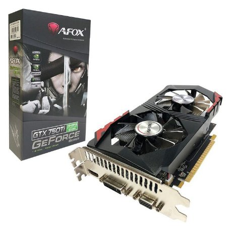 PLACA DE VIDEO 2GB GTX 750 TI AF750TI-2048D5H3-V2 GDDR5 128 BITS GEFORCE VGA HDMI DVI-D AFOX BOX