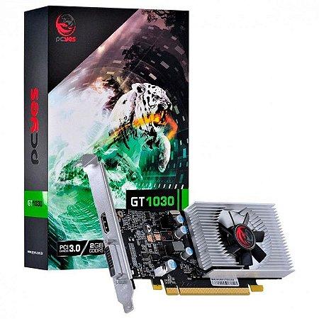PLACA DE VIDEO 2GB PCIEXP GT 1030 PP10302048DR564 64BITS GDDR5 LOW PROFILE PCYES BOX
