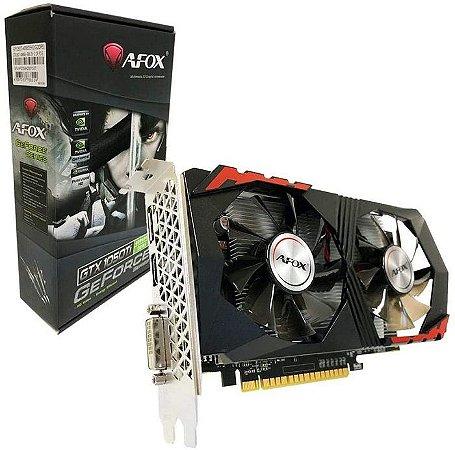 PLACA DE VIDEO 4GB PCIEXP GTX 1050 TI AF1050TI4096D5H2 128BITS DDR5 DP HDMI DVI-D AFOX BOX