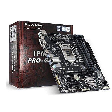 PLACA MAE 1151 MICRO ATX IPMB360 PRO-GAMING DDR4 VGA/DVI-D/HDMI PCWARE BOX