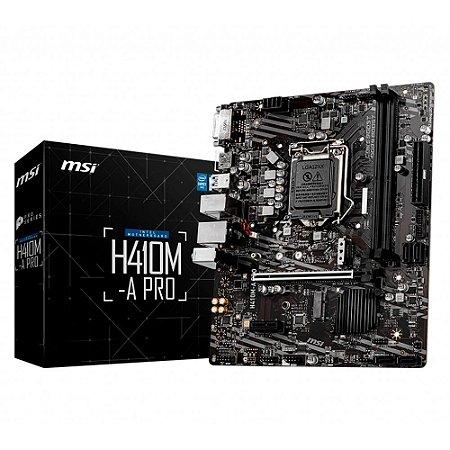 PLACA MAE LGA 1200 MICRO ATX H410M-A PRO DDR4 HDMI/DVI-D USB 3.0 MSI BOX