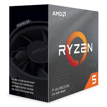 PROCESSADOR RYZEN 5 AM4 3600 3.6 GHZ 32 MB CACHE SEM GRAFICO AMD BOX