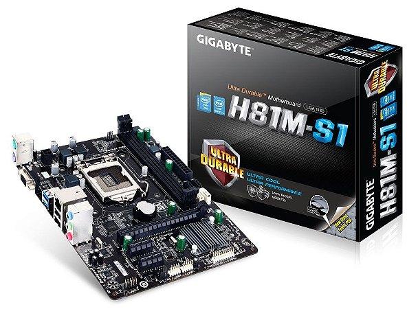 PLACA MAE 1150 S/V/GL GA-H81M-S1 DDR3 GIGABYTE