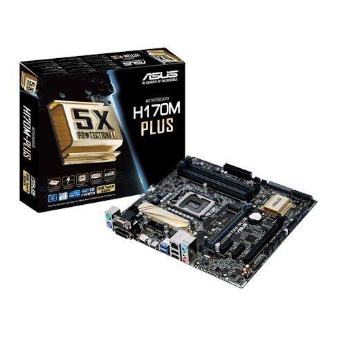 PLACA MAE 1151 ATX H170M-PLUS DDR4 VGA / HDMI / DVI-D / D-SUB IMP ASUS