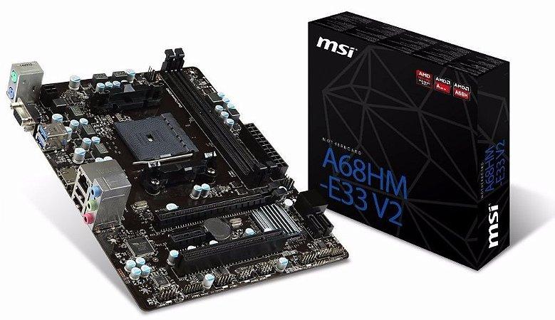 PLACA MAE FM2 MICRO ATX A68HM-E33 V2 DDR3 MSI IMP